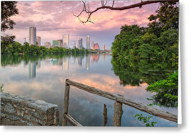 Austin Skyline From Lou Neff Point Greeting Card