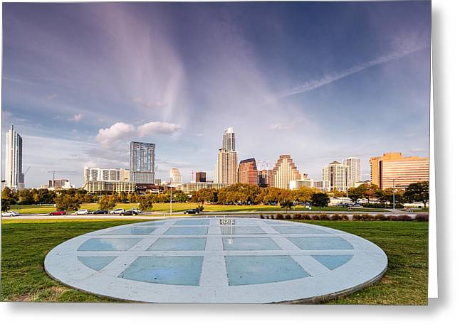 Austin Skyline From The Longs Center For The Performing Arts Greeting Card