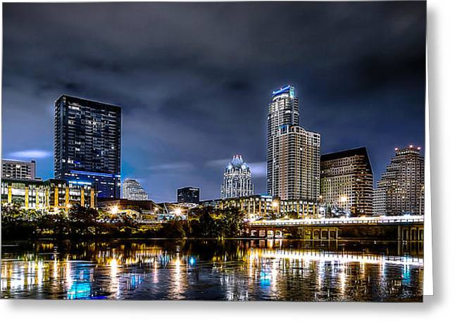 Austin Skyline Hdr Greeting Card