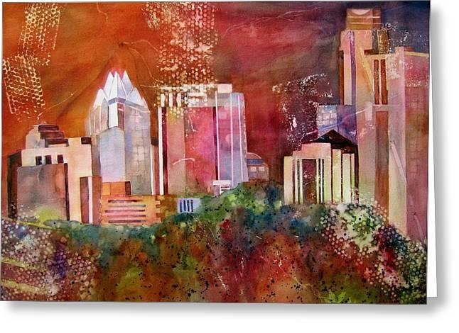 Austin Skyline IIi Greeting Card