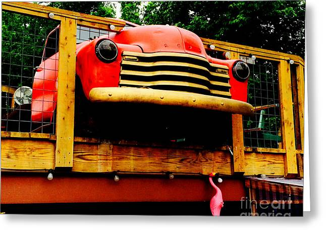 Austin Texas - Maria's Taco Express - Luther Fine Art Greeting Card