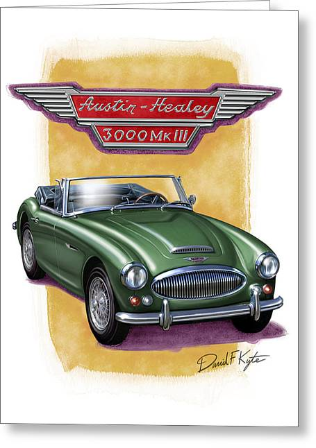 Austin3000-brg Greeting Card by David Kyte