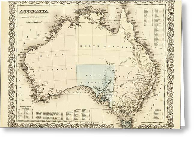 Australia C. 1850 Greeting Card by Daniel Hagerman