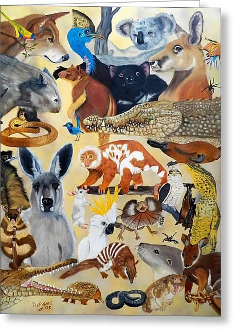 Australia Greeting Card by Debbie LaFrance