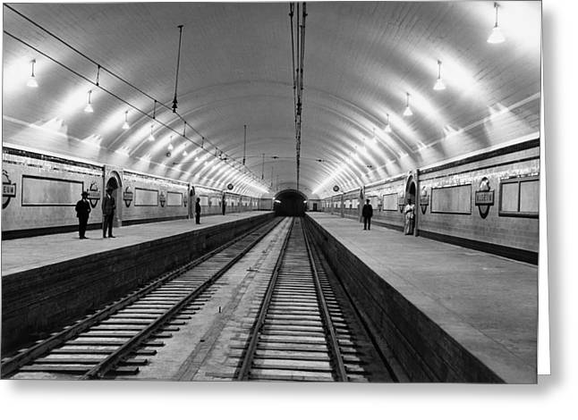 Australia Subway Station Greeting Card by Underwood Archives