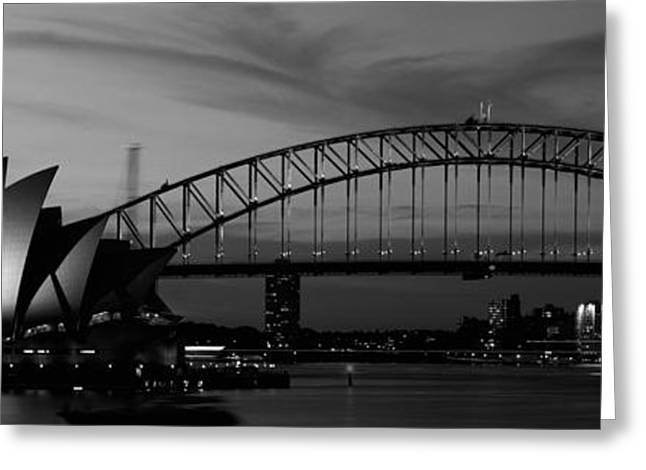 Australia, Sydney, Sunset Greeting Card by Panoramic Images