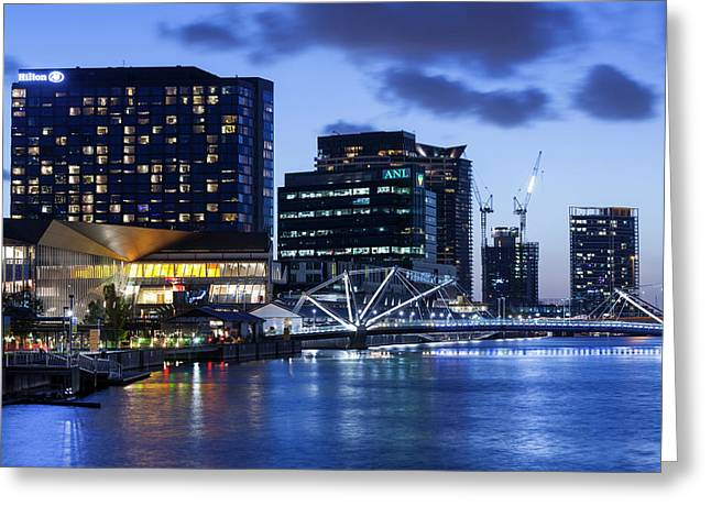 Australia, Victoria, Melbourne, South Greeting Card by Walter Bibikow