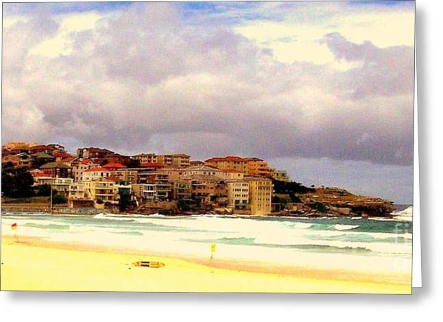 Australian Beach Scene Greeting Card by John Potts