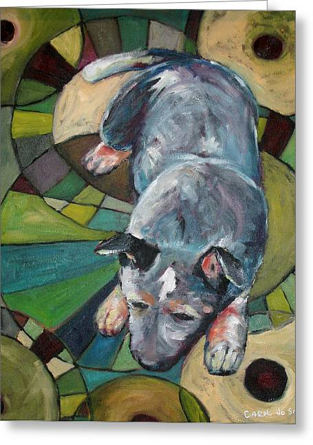 Australian Cattle Dog Nap Time Greeting Card