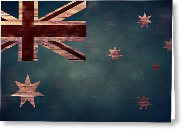 Australian Flag I Greeting Card by April Moen