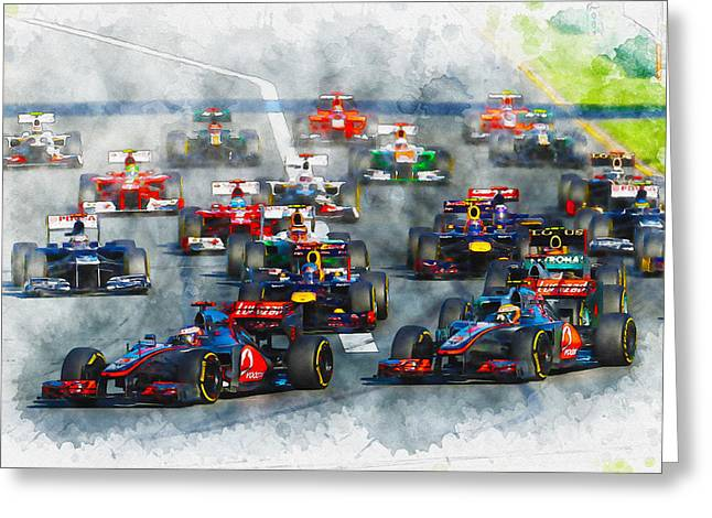 Australian Grand Prix F1 2012 Greeting Card