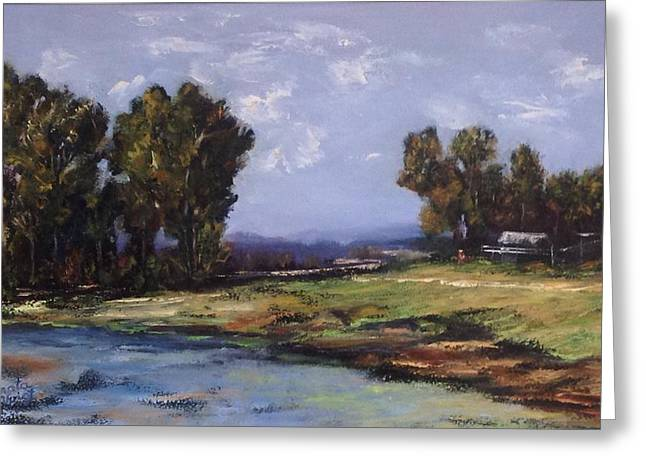 Australian Landscape By The Water  Greeting Card