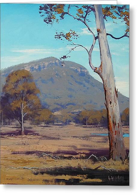 Australian Summer Landscape Greeting Card