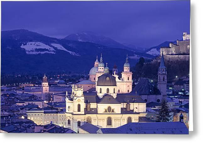 Austria, Salzburg, Aerial View Greeting Card