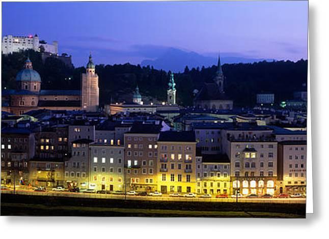 Austria, Salzburg, Salzach River Greeting Card