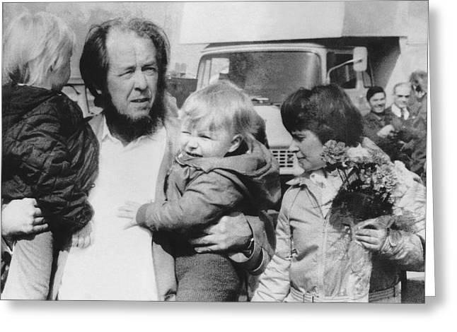 Author Alexander Solzhenitsyn Greeting Card by Underwood Archives