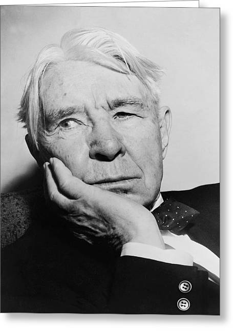 Author Carl Sandburg Greeting Card