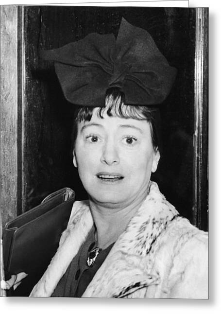 Author Dorothy Parker Greeting Card by Underwood Archives