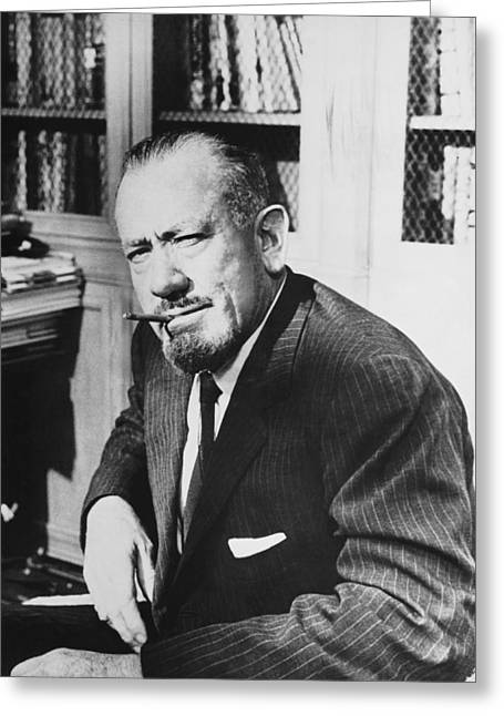 Author John Steinbeck Greeting Card by Underwood Archives