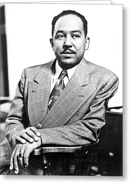Author Langston Hughes Greeting Card by Underwood Archives