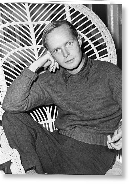 Author Truman Capote Greeting Card by Roger Higgins