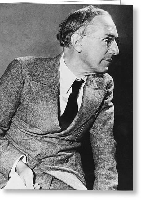 Author Upton Sinclair Greeting Card by Underwood Archives