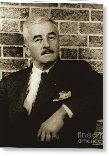 Author William Faulkner 1954 Greeting Card by Padre Art
