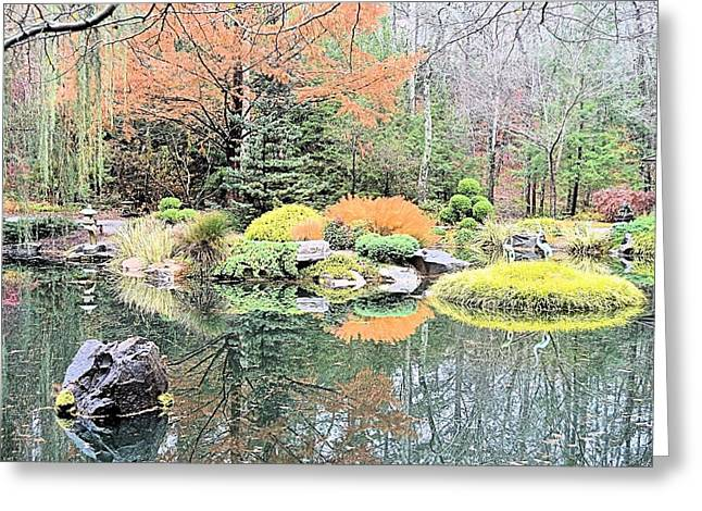 Autumn Lakeside Greeting Card