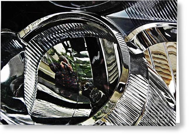 Auto Headlight 133 Greeting Card by Sarah Loft