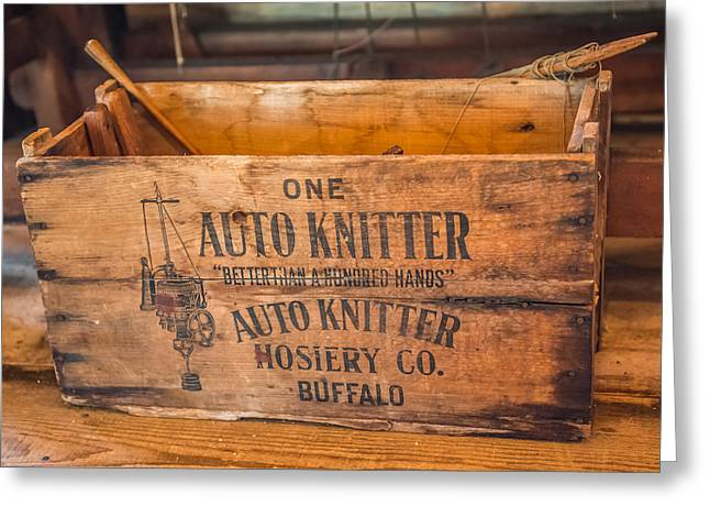 Auto Knitter Box Greeting Card
