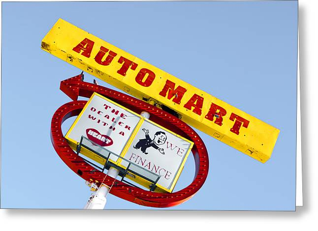 Auto Mart Greeting Card