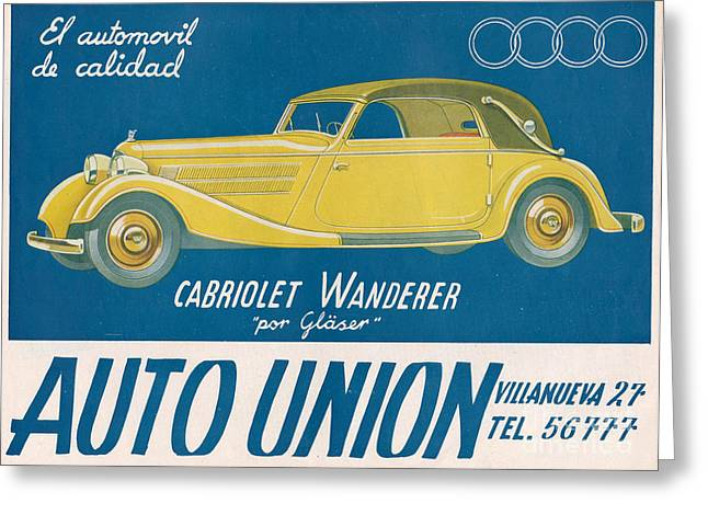 Auto Union Audi 1930s Usa Cc Cars Greeting Card