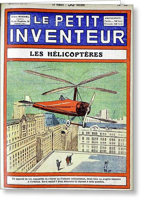Autogiro Greeting Card by Universal History Archive/uig