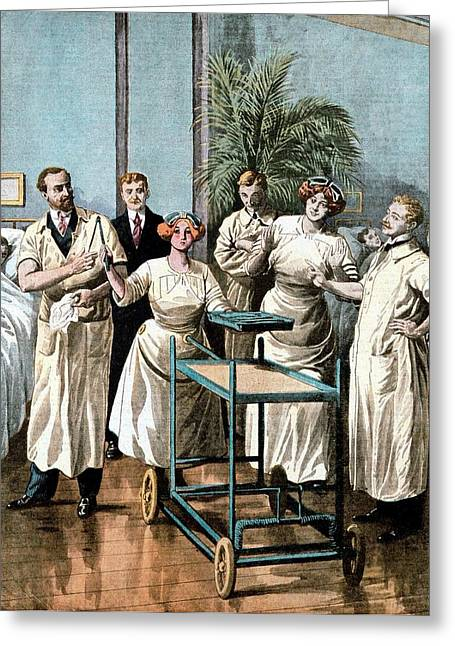 Automaton Nurses Greeting Card by Universal History Archive/uig