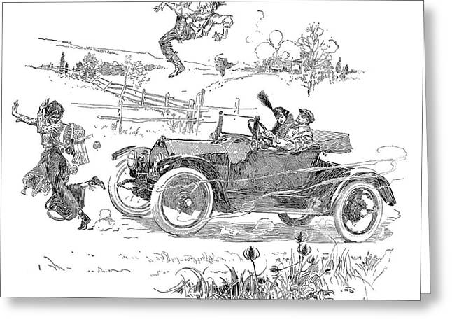 Automobile, 1914 Greeting Card by Granger