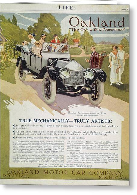Automobile Ad, 1913 Greeting Card by Granger