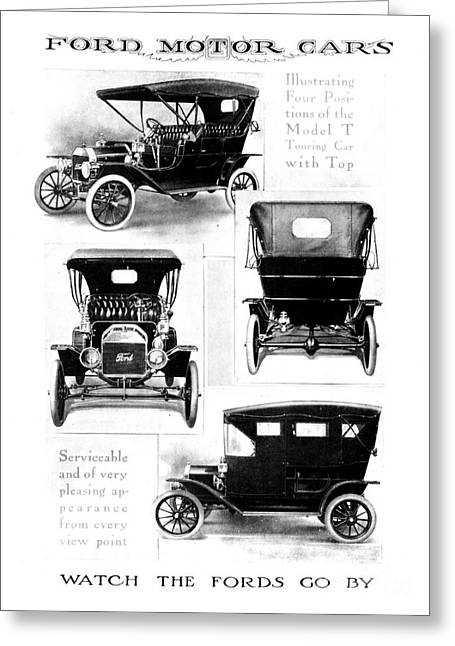 Automobile Advertisement Greeting Card by Granger