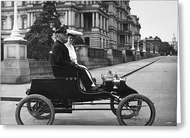 Automobile Stanley Steamer Greeting Card by Granger