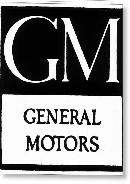 Automobiles Gm Logo Greeting Card by Granger