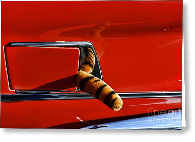 Automotive - Put A Tiger In Your Tank Greeting Card by Paul Ward