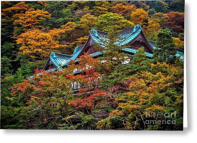 Greeting Card featuring the photograph Autum In Japan by John Swartz