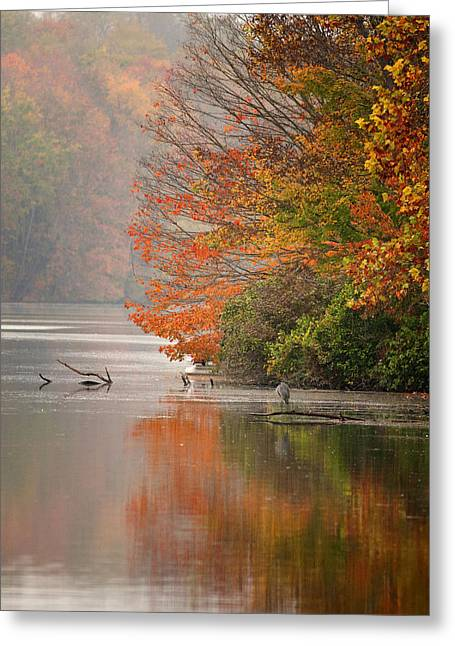 Autumn - Lake Logan Greeting Card