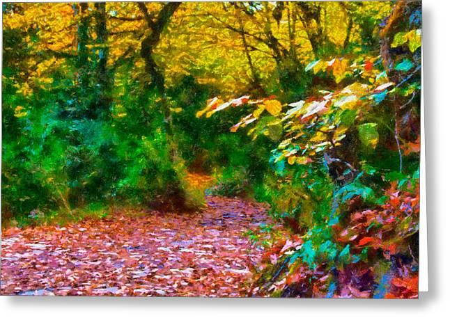 Autumn - 6 Greeting Card by Okan YILMAZ