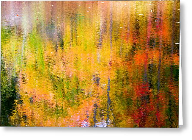 Autumn Abstract Greeting Card by Eleanor Abramson