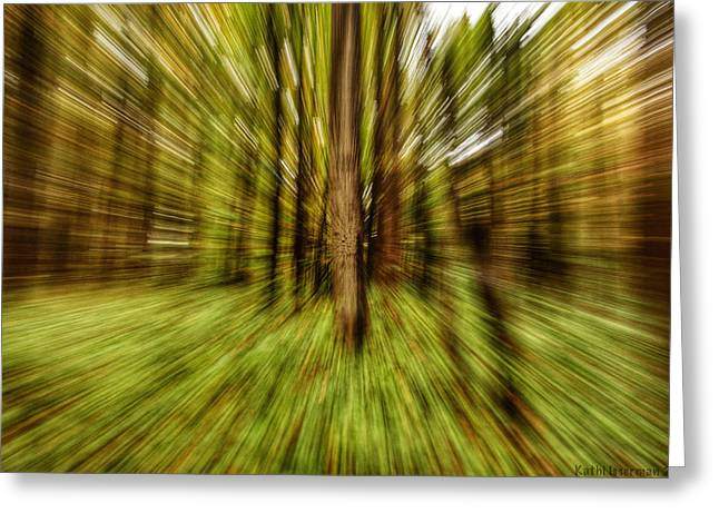 Autumn Abstract Greeting Card by Kathi Isserman