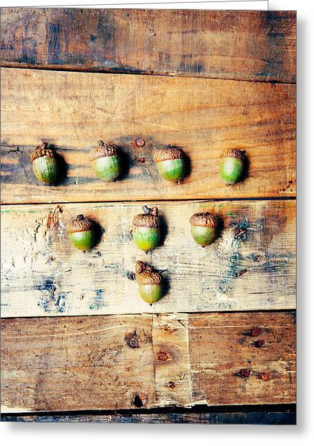 Autumn Acorns Greeting Card by Kim Fearheiley