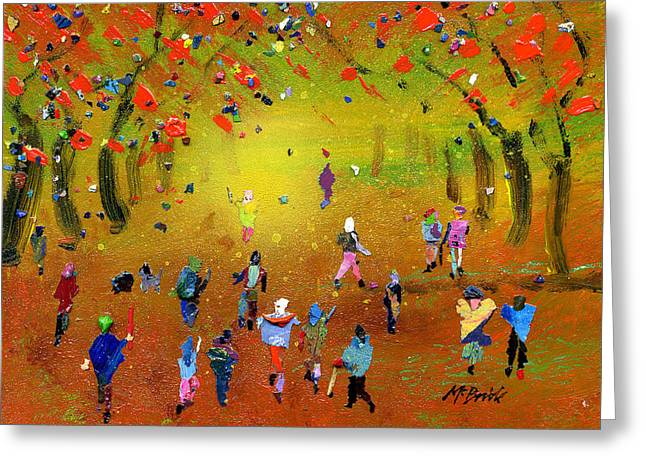 Autumn Amble Greeting Card by Neil McBride
