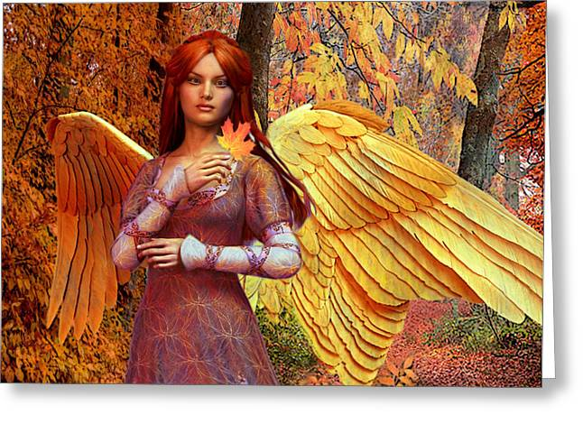 Autumn Angel 2 Greeting Card