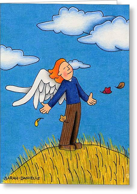 Autumn Angel Greeting Card by Sarah Batalka