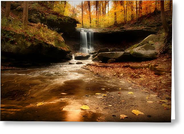 Autumn At Blue Hen Falls Greeting Card